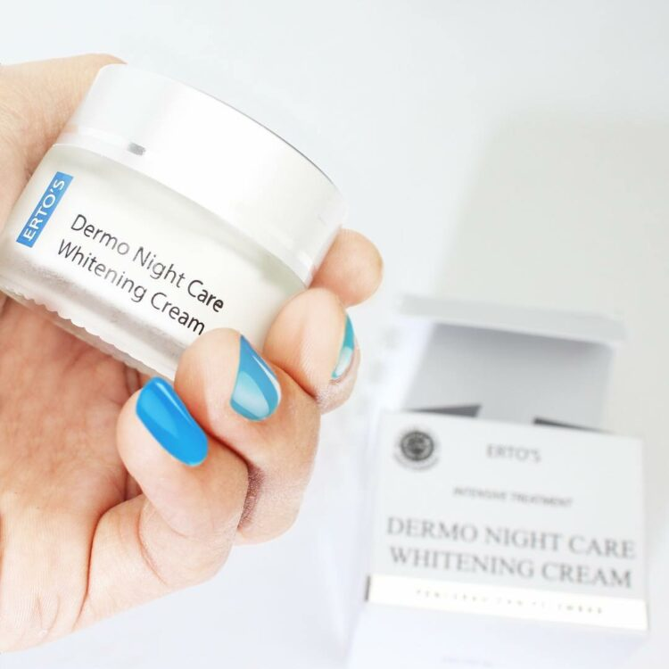 review ertos dermo night care whitening cream indonesia